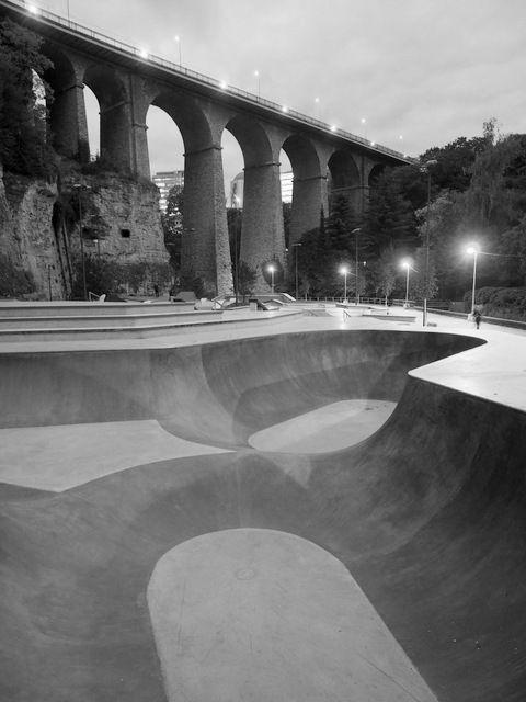 luxembourg vallee de la petrusse skatepark